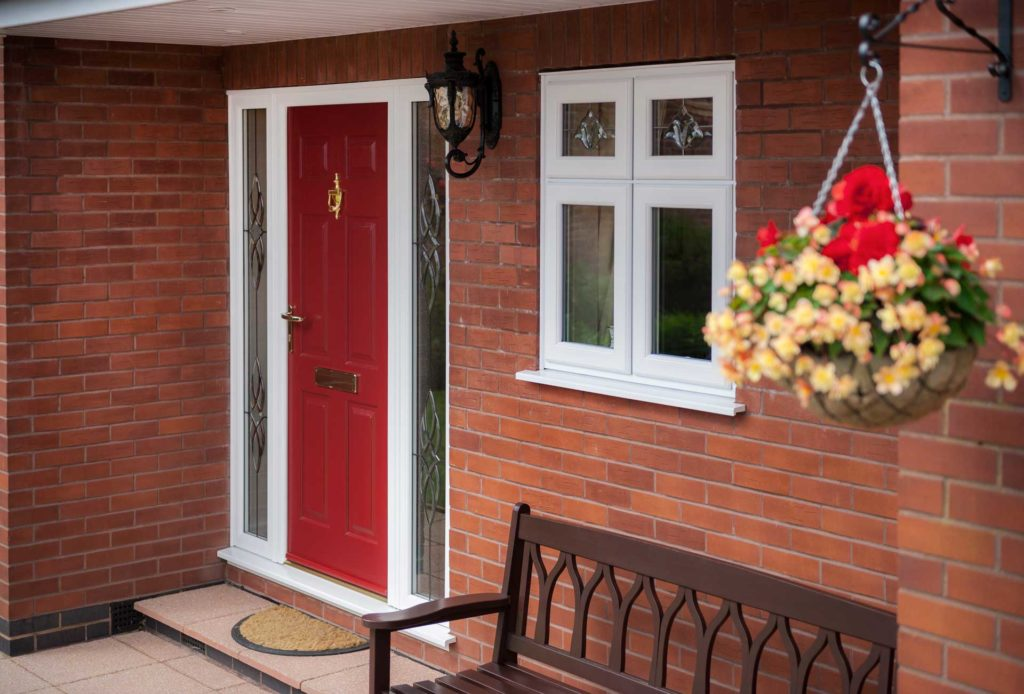 Red Composite Door kidderminster