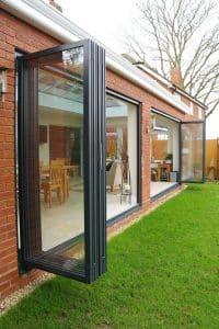 secure aluminium bi-fold doors